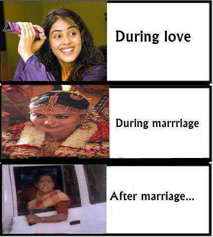 Girls In During Love During Marriage After Marriage Funny Pics