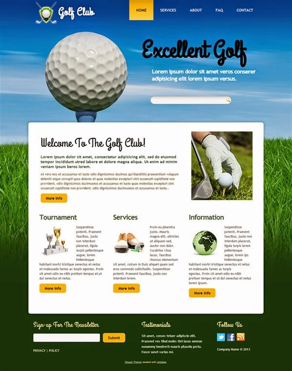 Golf Club - Free Drupal Theme