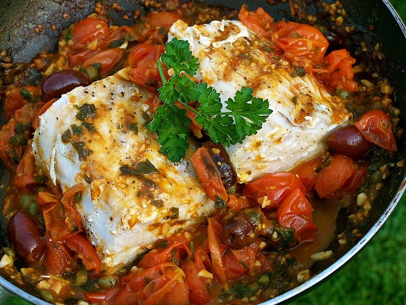 Food for hunters grilled wahoo ono in tomato for Wahoo fish recipes
