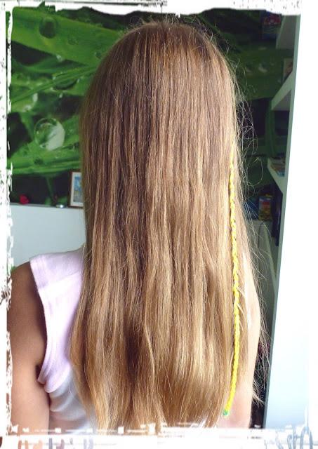 Wakacyjne włosy mojej córci
