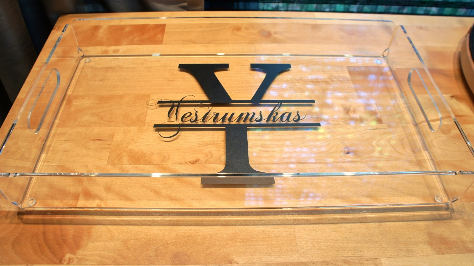 Food. Fashion. Home.: DIY Personalized Acrylic Serving Tray