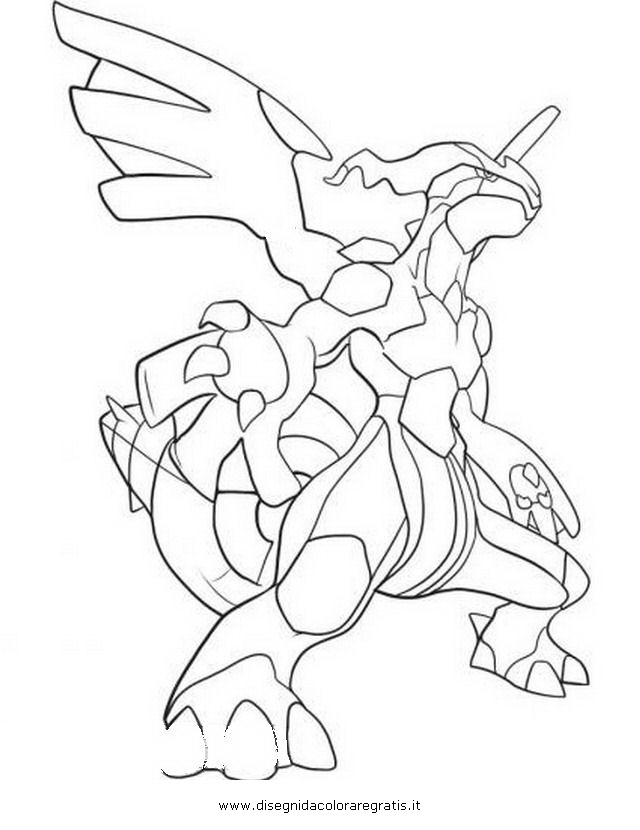 coloring pages pokemon zekrom x - photo#8