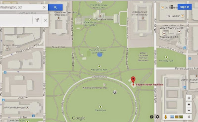 Google maps location of the Ellipse Visitor Center