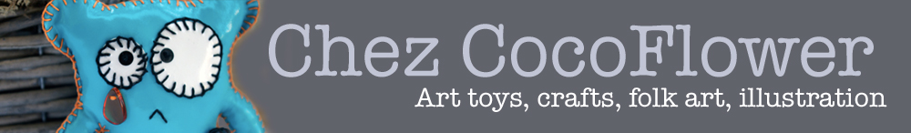 CocoFlower blog - Art toys, illustration, Folk art, crations textiles, crations manuelles
