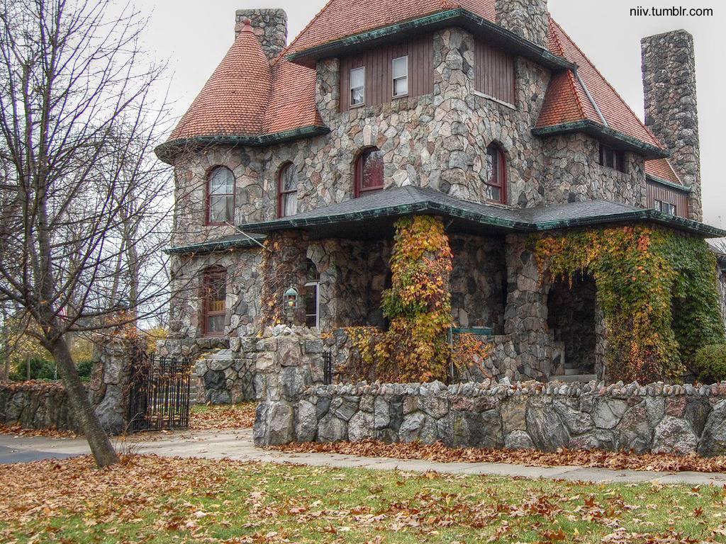 Arquitectura de Casas: Diseños de casas hechas de piedra.