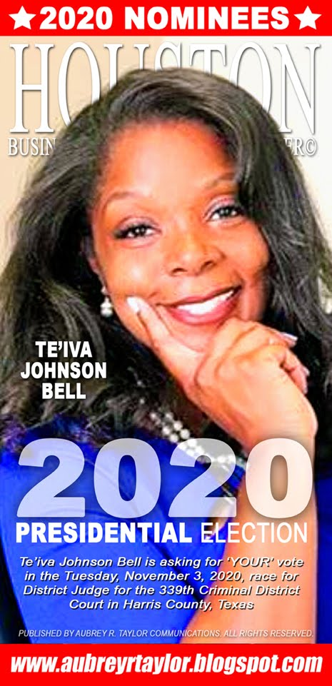 Te'iva Johnson Bell Values Your Vote, Prayers, and Support on Tuesday, November 3, 2020