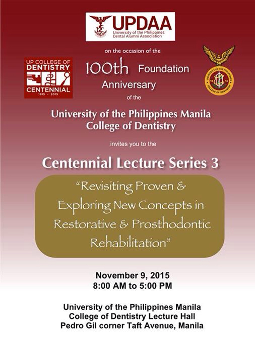UPDAA and UP College of Dentistry Centennial Lecture 3