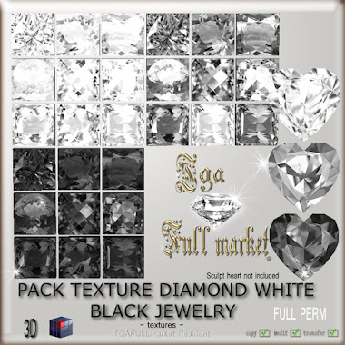PACK TEXTURE DIAMOND WHITE BLACK JEWELRY