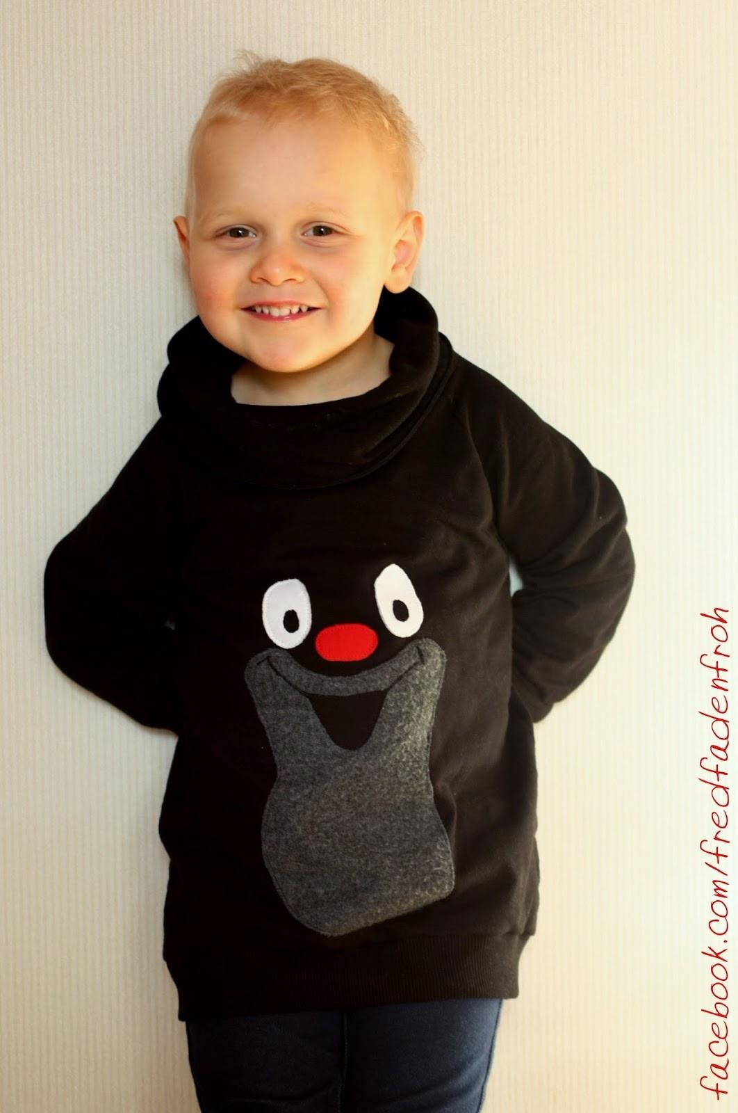 Maulwurf, kleiner Maulwurf, Applikation, Longsweater Boys, mommymade