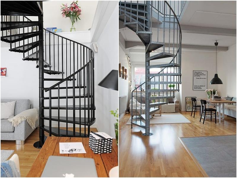 Elige la mejor escalera de caracol para interiores amor for Ver escaleras de caracol