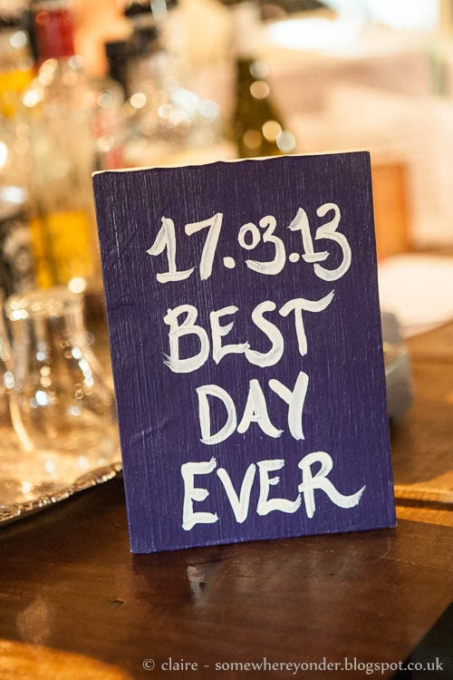 Best Day Ever - wooden wedding sign