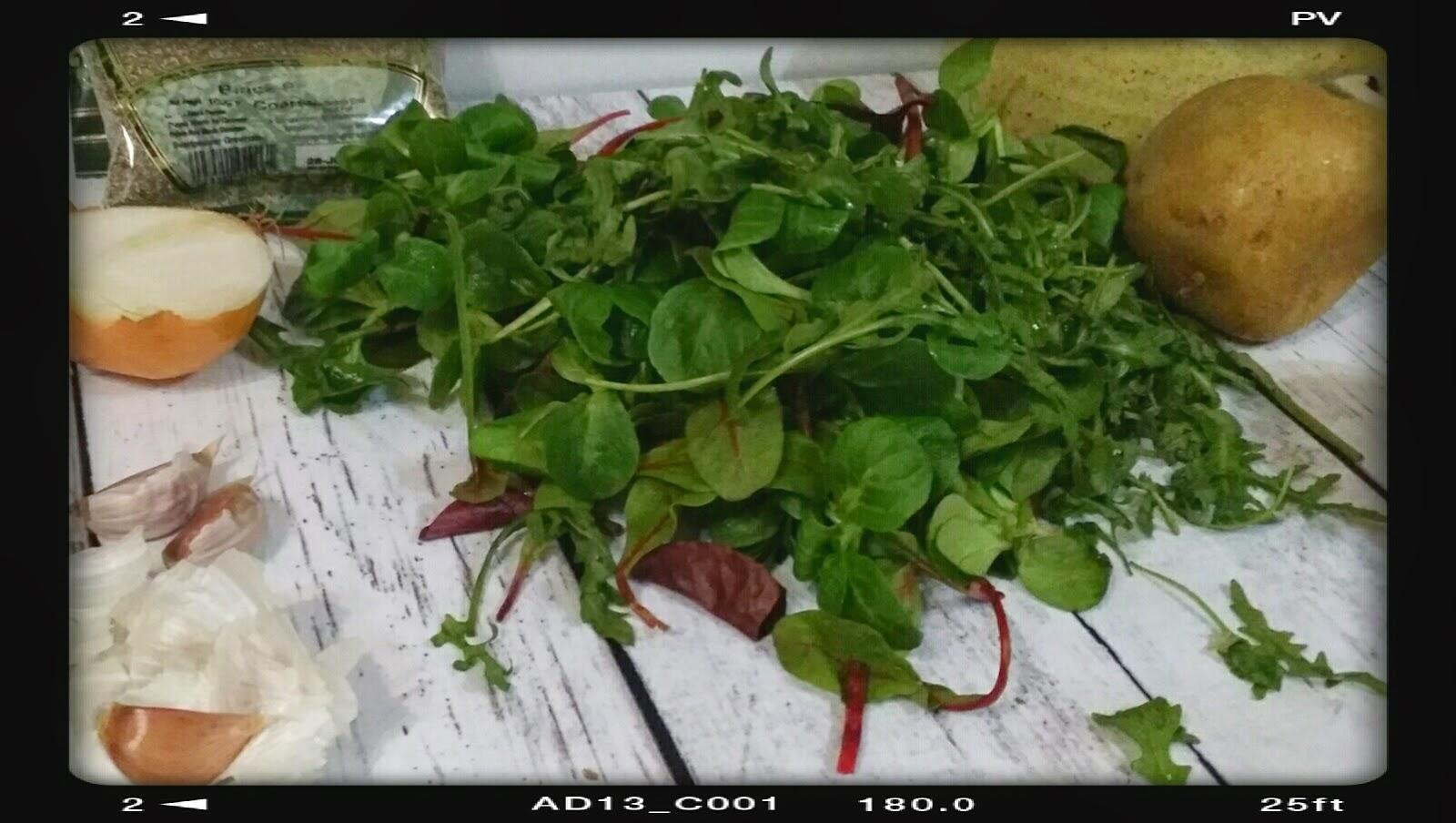 old salad leaves