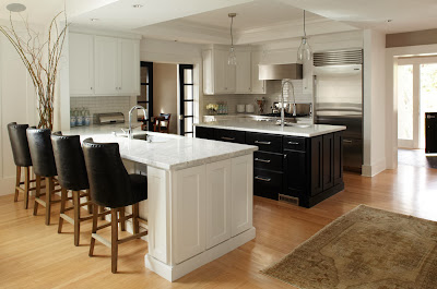 modern kitchen islands that doubles as preparation and breakfast table