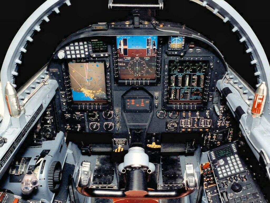 F 18 Cockpit Layout Displaying Imag...