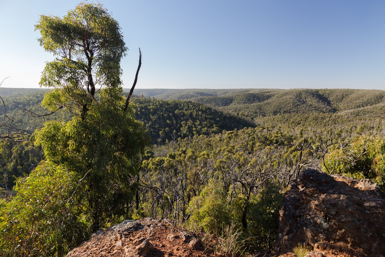 view across anakie gorge and brisbane ranges national park