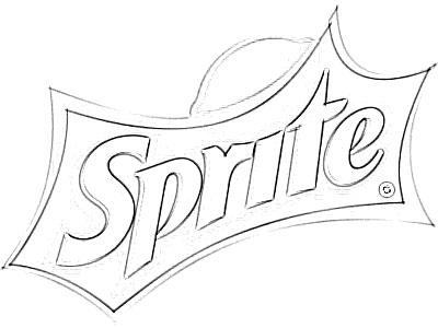 Sprite Logo Sketch Image Sketch