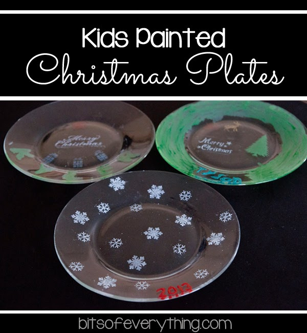 So they were so excited when I told them they were going to paint their own Christmas plates. They were so easy too! Wash Paint Dry.  sc 1 st  Bits of Everything : kids christmas dinnerware - pezcame.com
