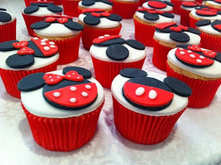 Cupcakes Minnie Mouse, parte 2