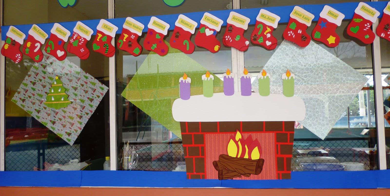 Salon de clases decorado de navidad for Decoracion de locales para navidad