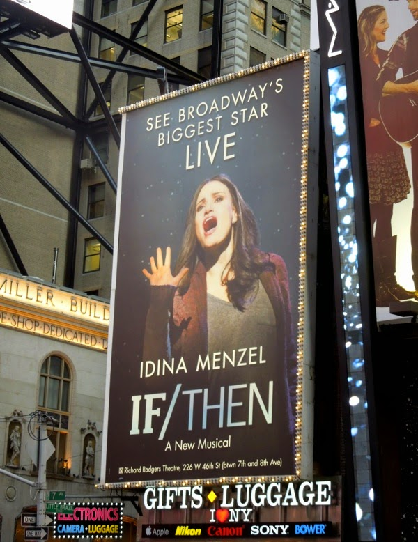 Idina Menzel If Then musical billboard Times Square