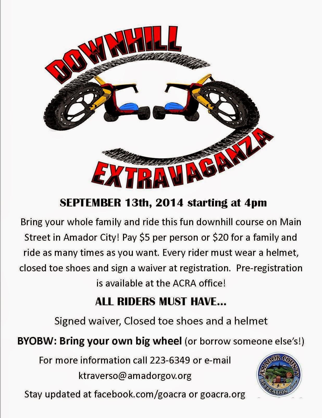 Downhill Extravaganza - Sat Sept 13