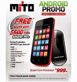 Promo Android Mito Gratis Power Bank Maret 2014