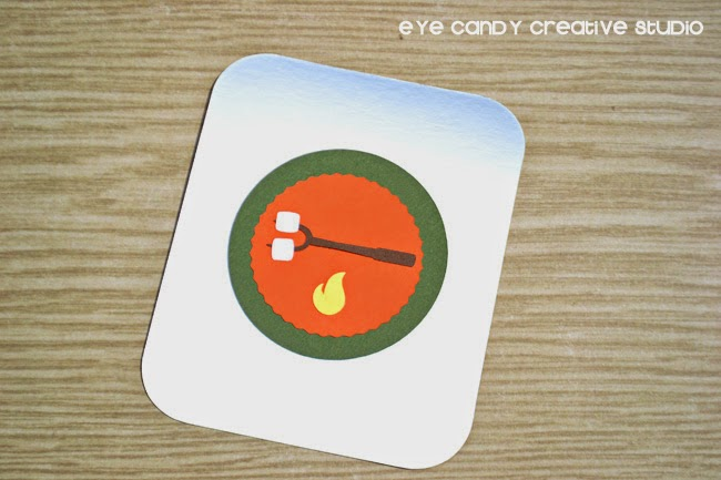 Silhouette machine, lids, camp badges, s'mores, theme stickers, outdoor