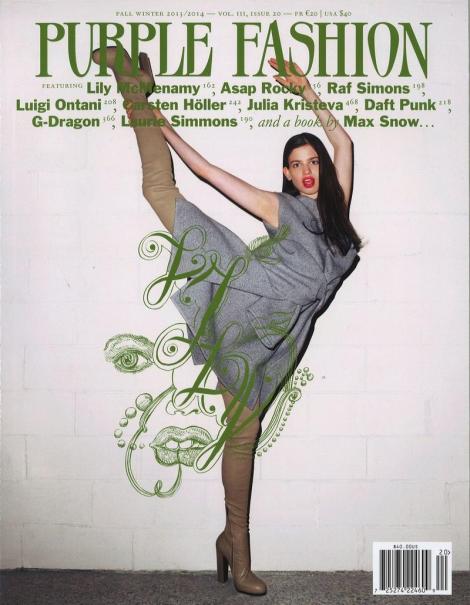 Lily McMenamy for Purple Fashion Magazine