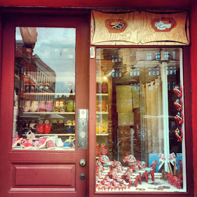 Wooden horse and clog shop - every town should have one!