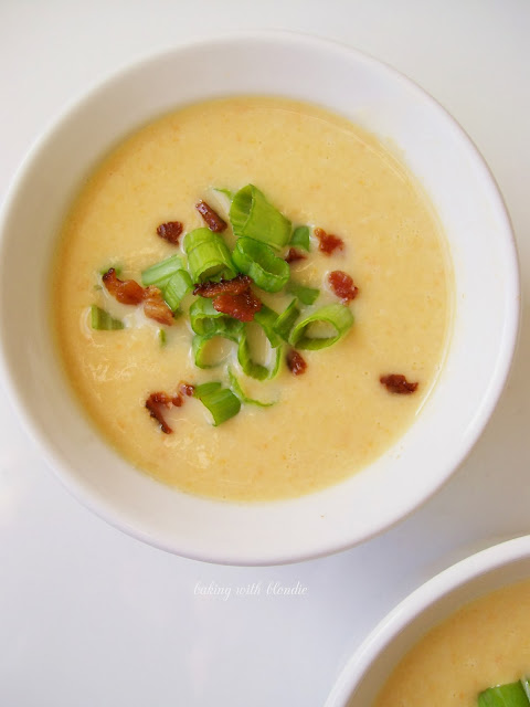 Slow Cooker Cauliflower Soup With Cheddar And Bacon