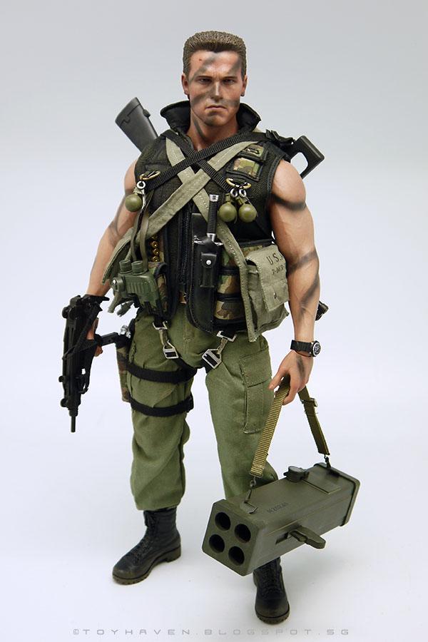 Hot Toys mms276 Commando John Matrix 1//6  articulated rocket launcher