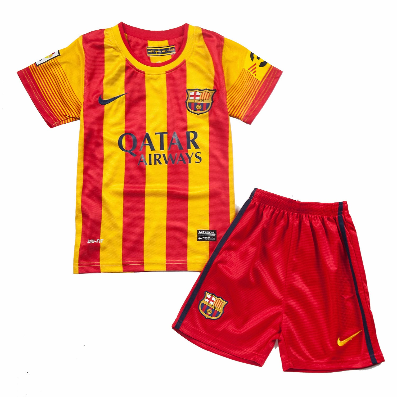 segunda equipacion Barcelona niños