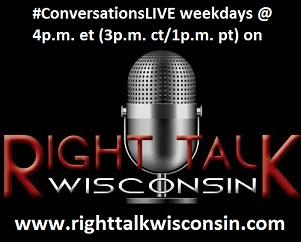 #ConversationsLIVE on Right Talk Wisconsin weekdays @ 4p.m. et (3p.m. ct/1p.m. pt)