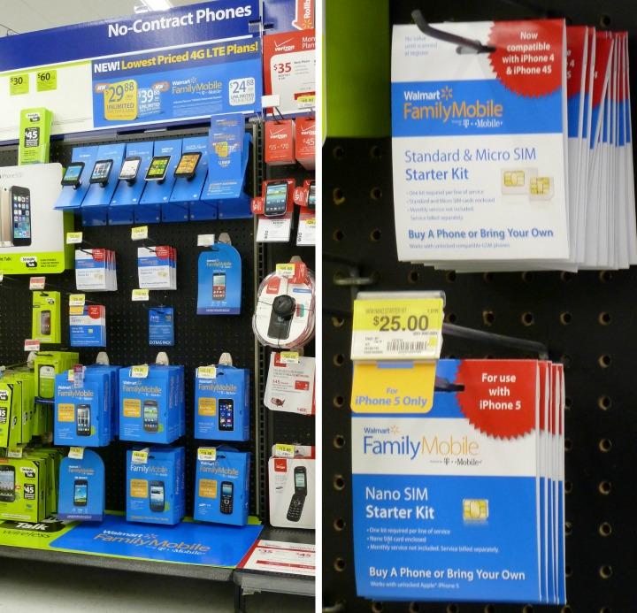 Walmart Family Mobile display sim starter kit
