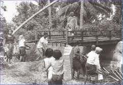 Ring road construction Koh Samui 1969-1970