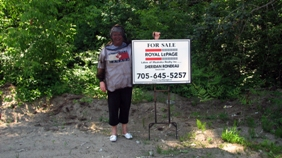 Sheridan Rondeau in Muskoka bug suit