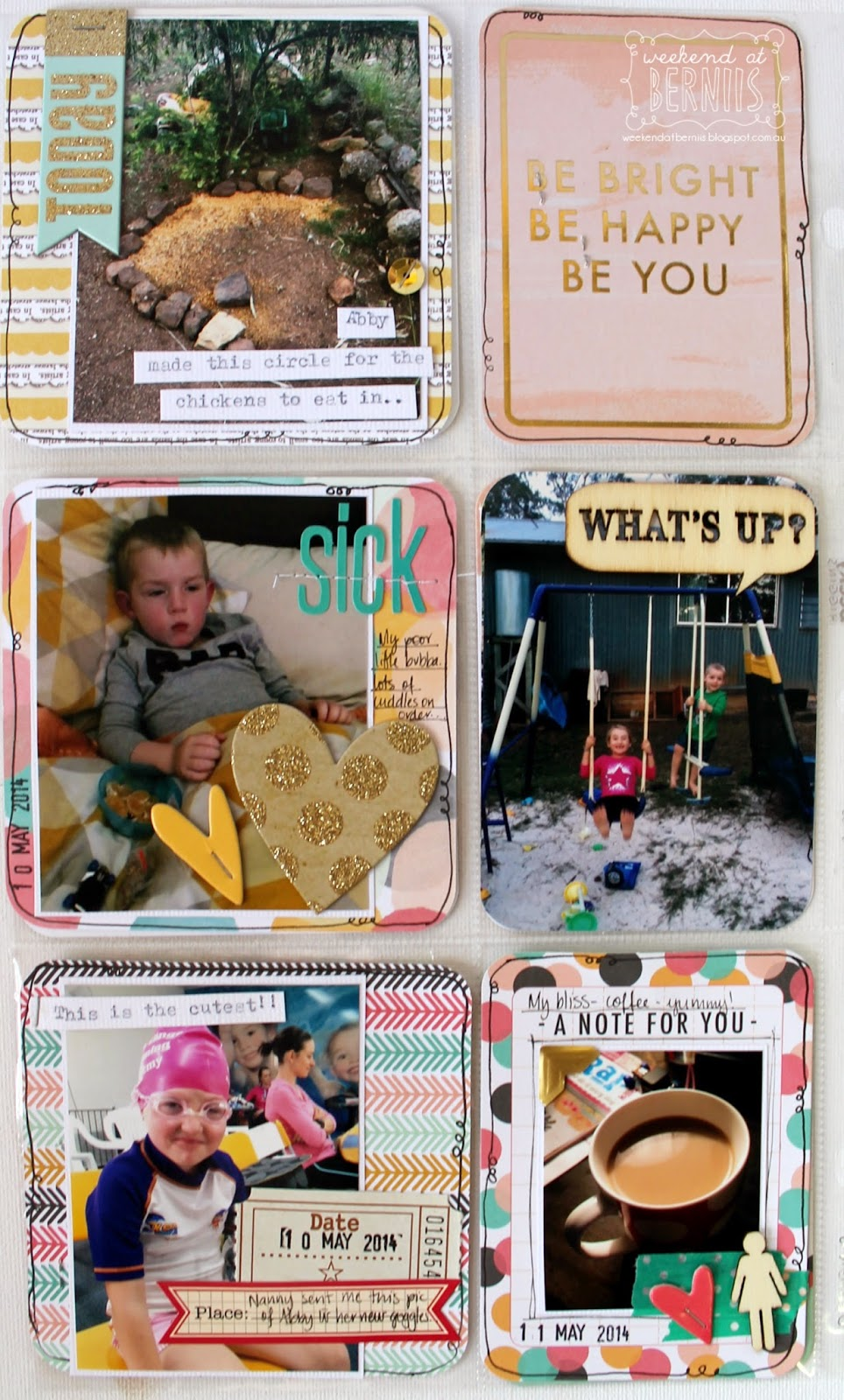 Week 19 -2014 Project Life layout by Bernii Miller using the Be Bright collection by Becky Higgins.