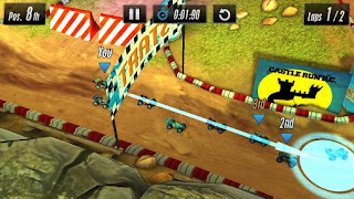 Screenshots of the Touch racing 2 for Android tablet, phone.