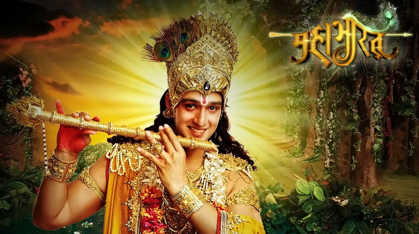 Hd wallpaper krishna - Shri Krishna In Mahabharat Star Plus Serials Hd Wallpaper