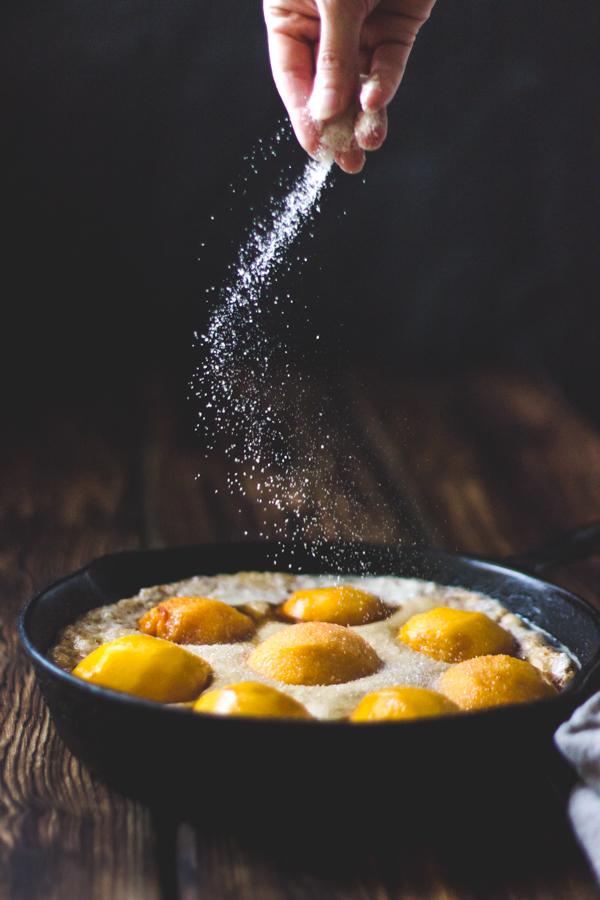 ... Peach Cobbler with Maple Sugar, Bourbon + Brown Butter {Gluten-Free