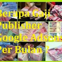 Berapa Gaji Publisher Google Adsense Per Bulan ?