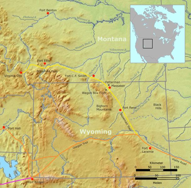 bozeman trail route