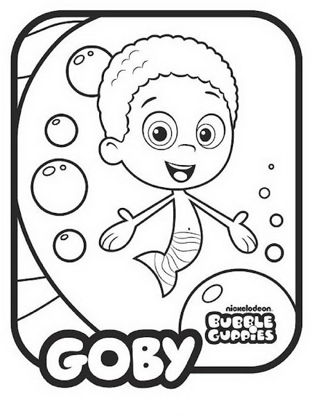 Bubble Guppies Coloring Pages Oona