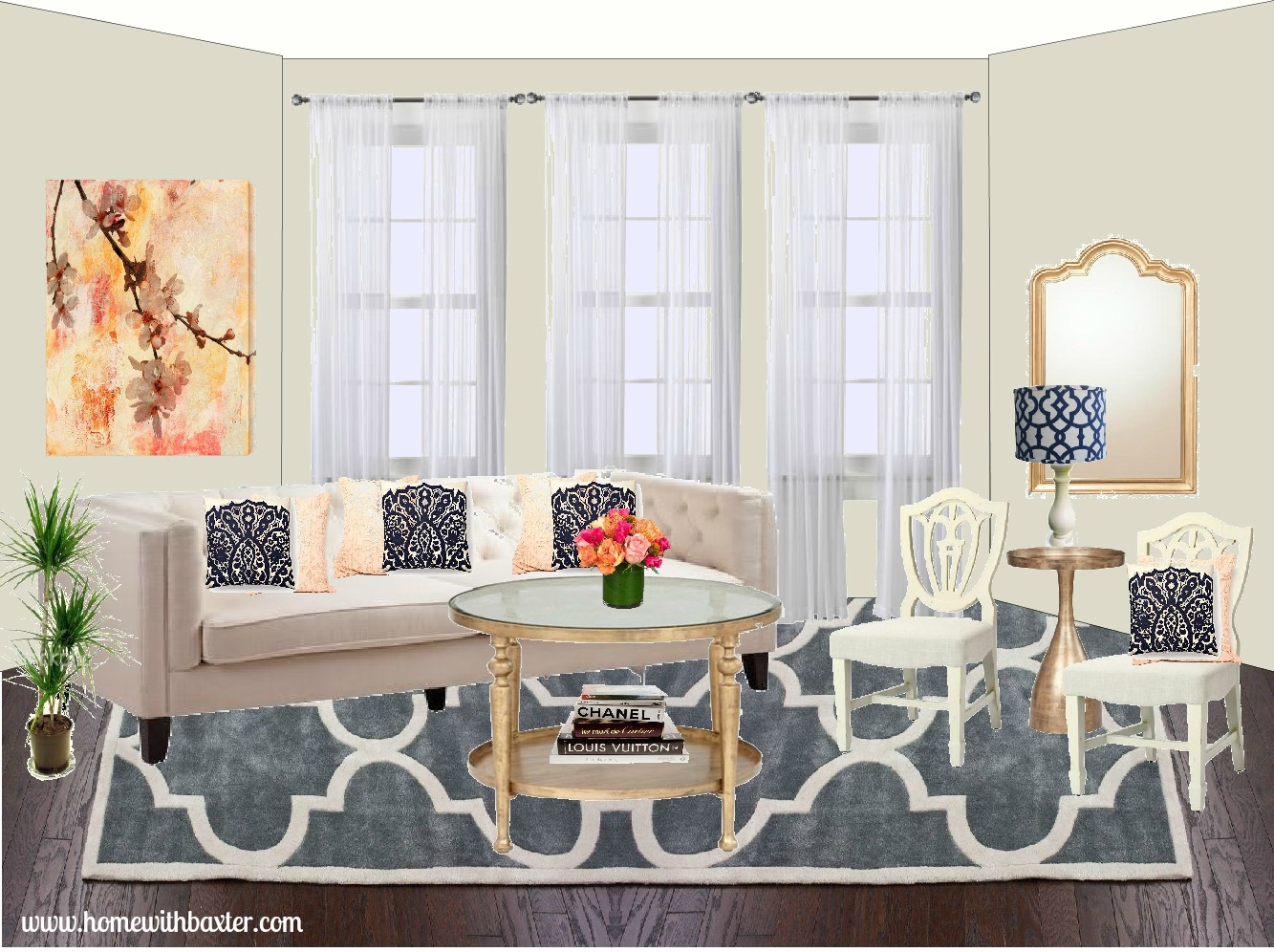 home with baxter design board glam living room we all know that gold hues are making a major comeback right now and i have to say i m really drawn to the trend it has me looking around at all my