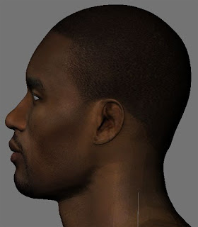 NBA 2K13 Serge Ibaka HD Cyber Face Patch