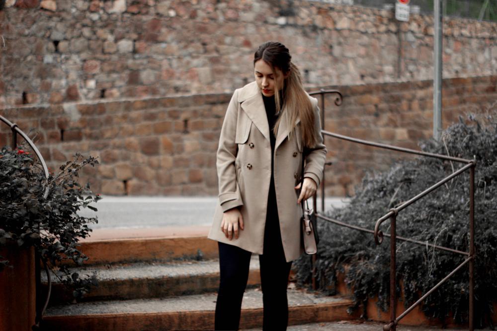Oasis 70's swing coat aimerose fashion blog