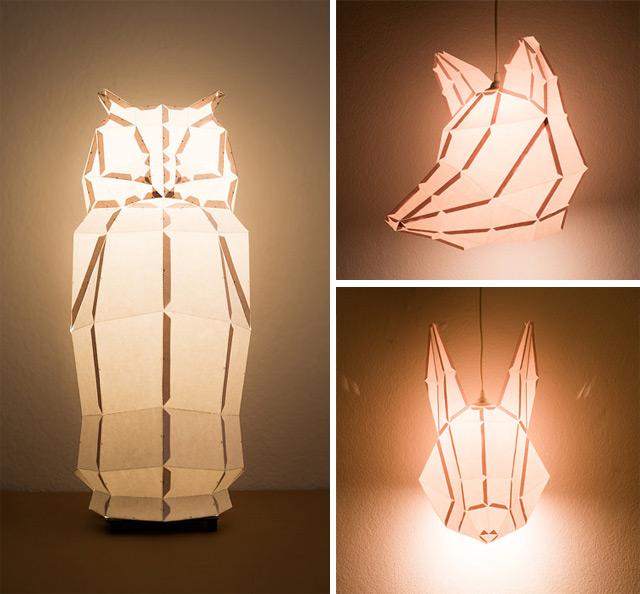 brandflakesforbreakfast: DIY foldable paper lamps