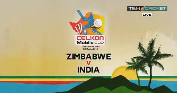 Live -Ten Sports Live – India Vs Zimbabwe 5th ODI Live Streaming Youtube,celkon Cup