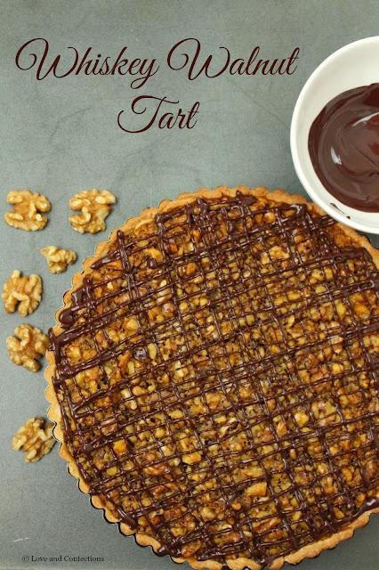 Whiskey Walnut Tart from LoveandConfections.com #BrunchWeek