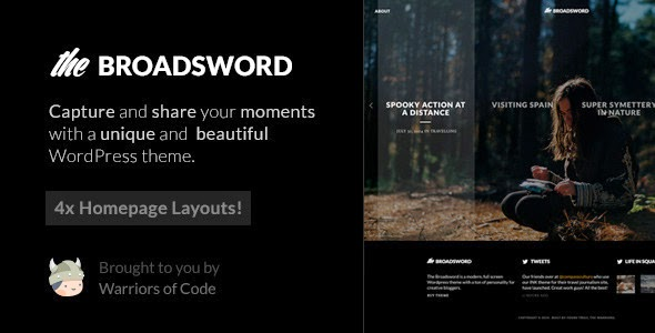Broadsword - A WordPress Theme to Share Stories